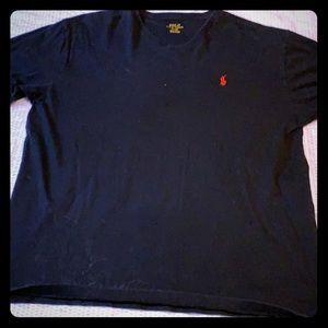 Black v neck t shirt